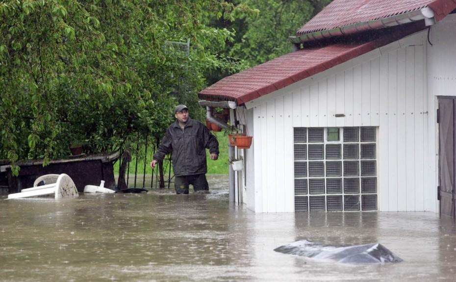 Koblov, 17.5.2010, povodně, povodeň, záplava, déšť, velká voda, Žabník Foto: MFDNES - Adolf Horsinka