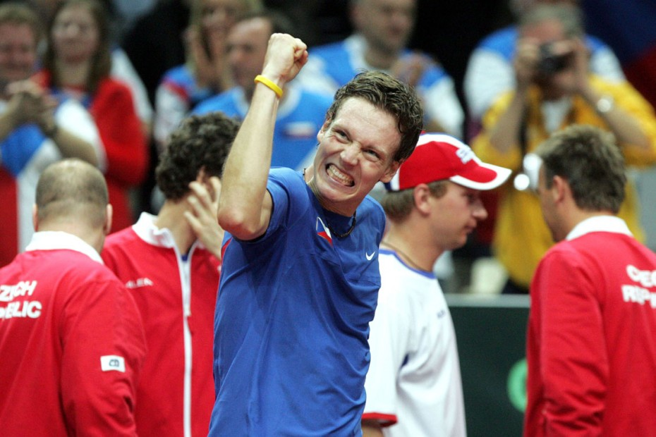 Ostrava - Davis Cup, tenis, Tomas Berdych Foto: MAFA - Adolf Horsinka